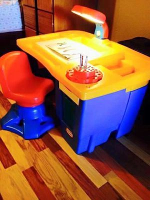 Kids Fisher price desk and chair for Sale in Victorville, CA