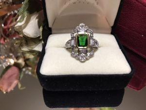 Beautiful! Silver Vintage style Emerald Stone Ring for Sale in Gainesville, VA