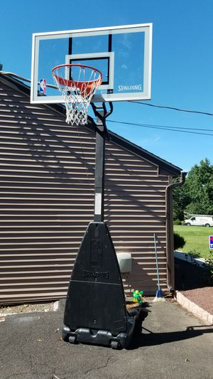 Spalding 54 Inch NBA Glass Backboard Portable Basketball System for Sale in Yardley, PA
