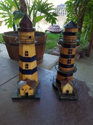 Metal Lighthouse Tower /Candle holders for Sale in Fresno, CA