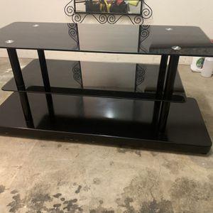 Black Glass Tv Stand for Sale in Corona, CA