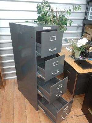File Cabinet, 4 Drawer Cabinet, Letter Size Cabinet, Grey Color for Sale in Plano, TX