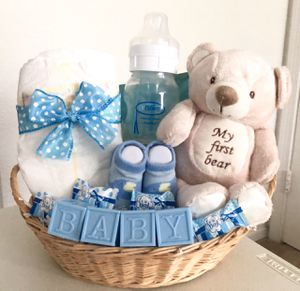 Welcome Baby Boy (or Baby Girl) Affordable Gift Basket for Sale in Virginia Beach, VA