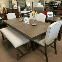 🚚Fast Delivery ✔️For a pleasant presentation🎊[SPECIAL] Rokane Brown Rectangular Dining Set | D397 by Ashley for Sale in Philadelphia,  PA