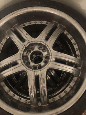 20 inch rims n tires for Sale in San Antonio, TX