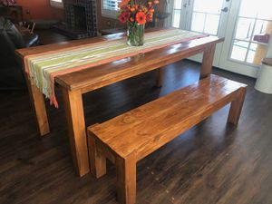 Wood dining table for Sale in Queen Creek, AZ