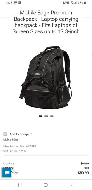 Mobile edge computer/laptop backpack. Never used for Sale in Los Angeles, CA