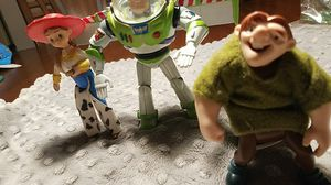 , rare old Buzz Lightyear action figure and Jessie from a Happy Meal and Quasimodo action figure for Sale in Monterey Park, CA