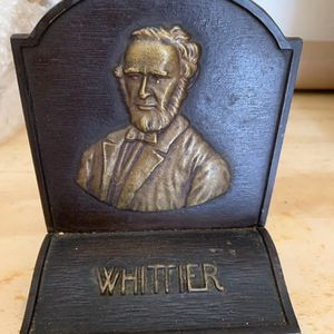 John Greenleaf Whittier Antique Cast Iron Bookend for Sale in Palm City, FL