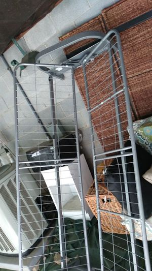 Free silver metal futon frame for Sale in Charlotte, NC