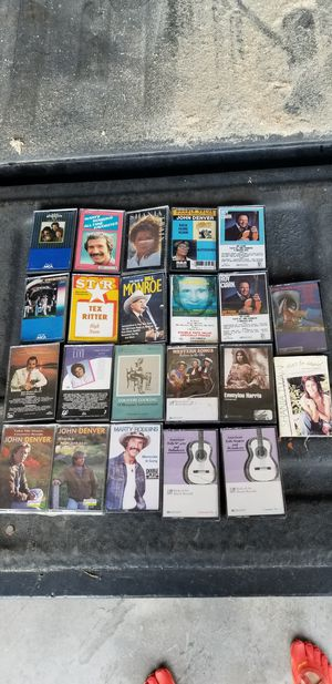 Assorted country cassettes for Sale in Hutchinson, KS