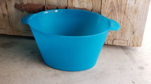Blue thick plastic turquoise storage container for Sale in Chandler, AZ