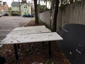 Three good Tables FREE come pick it up 1010 W University ave next to Gas station behind the building for Sale in Gainesville, FL