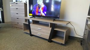 Sierra TV Stand up to 70in TVs, Dark Taupe AND Black Finish for Sale in Santa Ana, CA