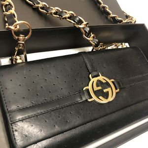 Gucci leather wallet on chain authentic for Sale in San Diego, CA