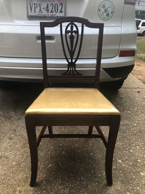 Good and brown Antique chair for Sale in Alexandria, VA