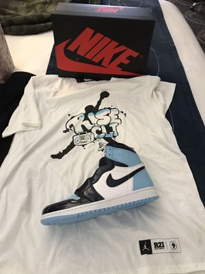 All star pack exclusive air Jordan 1 patent UNC w/ shirt for Sale in Richmond, VA