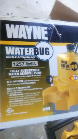 Water Bug Pump Empty your pool down to 1/16th of an inch basically dry Newest technology fantastic tool for Sale in Phoenix, AZ