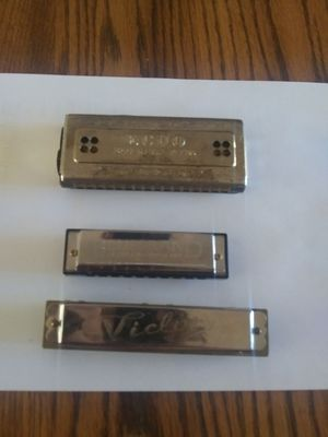 Group of 3 Harmonicas - $20.00 for Sale in St. Louis, MO