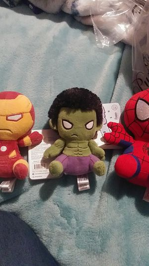 Marvel plushies funko pops for Sale in Sun City, AZ