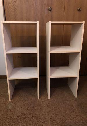 Set of 2 white bookcases for Sale in Naperville, IL