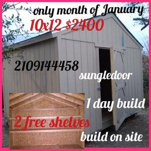 Shed especial 10x12 $2400 for Sale in San Antonio, TX