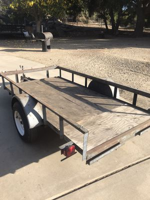 Utility trailer 5x10 (registered w/plate) for Sale in Valley Center, CA