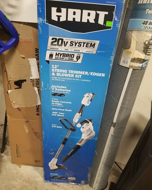 "Hart 20V System 12"" String Trimmer/Edger & Blower Kit, Hybrid Battery or Cord, Comes with 2 Batteries $105 FIRM for Sale in Redlands, CA"