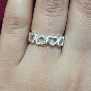 Sterling silver plated ring heart size 6 for Sale in Silver Spring, MD