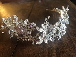 Moldable crystal tiara (David's Bridal) for Sale in Berryville, VA