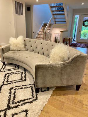 Two Tufted Velvet Sofa from ZGallerie for Sale in Great Falls, VA