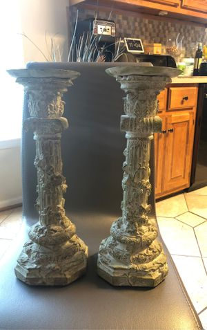 """Stone candle holders 16"""" inches high for Sale in Norfolk, VA"""