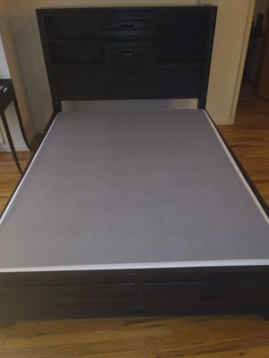 Lane Collection Queen Bed Frame w/Storage for Sale in Princeton, NJ