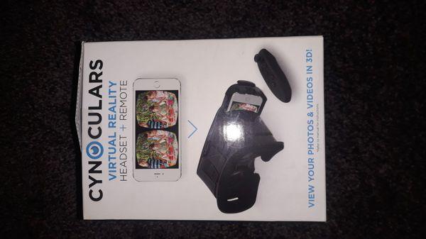 Cynoculars Virtual Reality Headset w/Remote