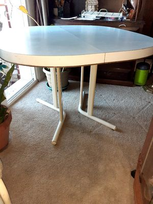 Kitchen table white Formica with 3 chairs for Sale in Boyertown, PA