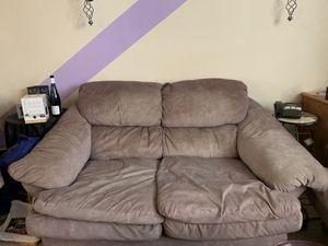 Micro suede gray love seat for Sale in Lorton, VA