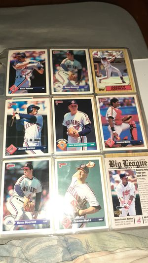 Cleveland Indians cards some rookie cards for Sale in Elyria, OH