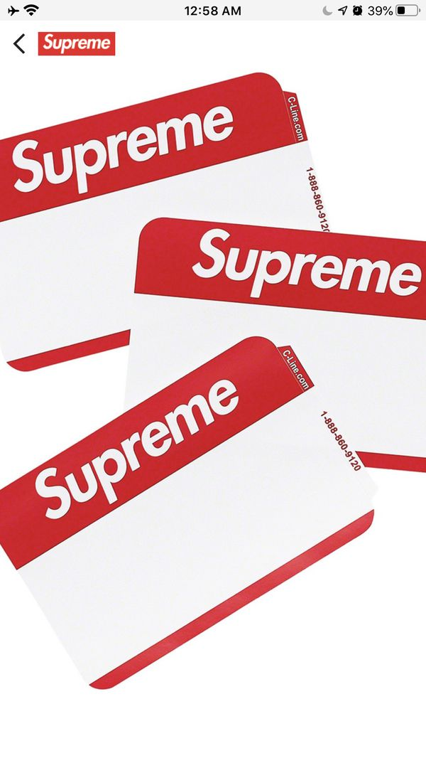 SUPREME Fall/Winter 2020