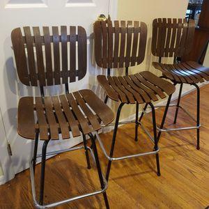 Three Mid Century Barstools for Sale in Kirkland, WA