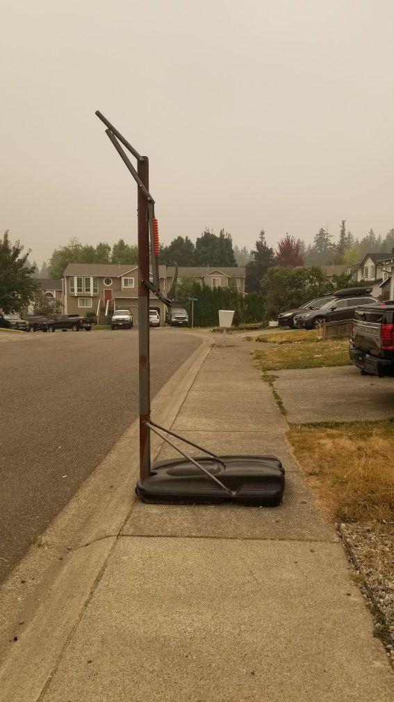 Spalding adjustable basketball hoop pole and base Free!!!!!!!