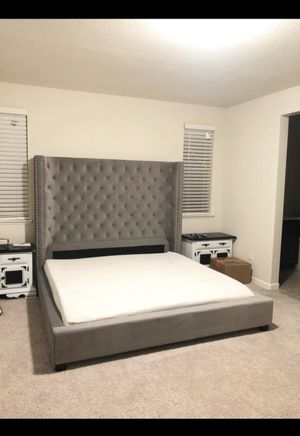 6ft Tall California King Bed Frame Only for Sale in Banning, CA
