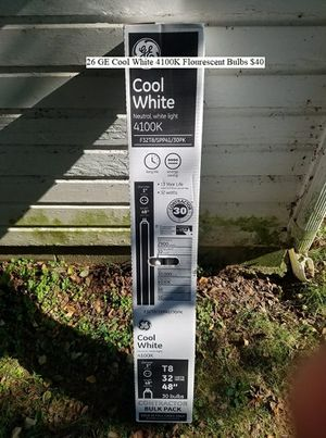26 GE Cool White 4100K Flourescent Bulbs $40 for Sale in Dresden, OH