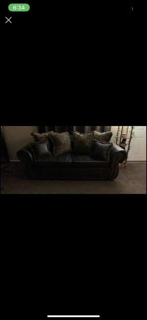 Couch, love seat, wall decor, curtains for Sale in Oklahoma City, OK
