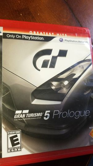 Gran Turismo 5 prologue PlayStation 3 for Sale in Wahneta, FL