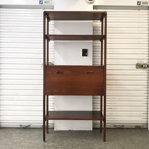Mid-Century Wood Shelving Unit and Secretary Desk for Sale in Los Angeles, CA