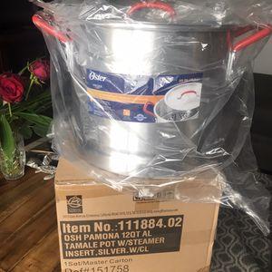 Tamale Pot W/Steamer 12/20 Qt for Sale in Oceanside, CA