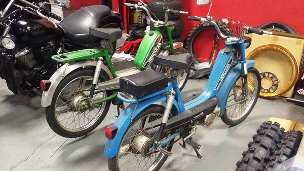 2 Vintage Sachs Hercules mopeds! Mint!