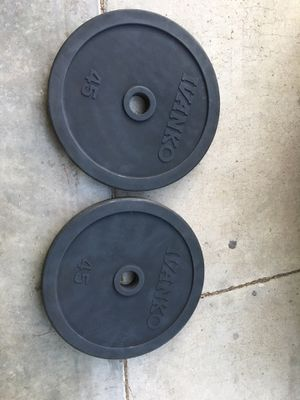 Olympic weights ivanko rubber coated for Sale in Bloomington, CA