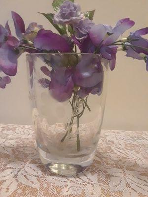 Etched glass oval vase for Sale in Flint, MI
