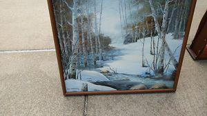 Oil on Canvas Winter Scene..Framed for Sale in Washington, IL